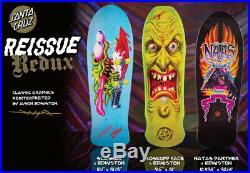 Santa Cruz Skateboard Deck Edmiston 3 Pack Collection Slasher Face Natas SET