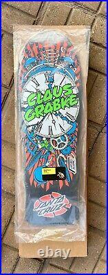 Santa Cruz Skateboard Deck, Grabke Exploding Clock Reissue, Quick & Free Ship