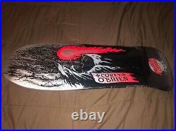 Santa Cruz Skateboard Deck Rare Color Corey Obrien Reaper Reissue Silver Vtg