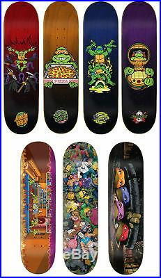 Santa Cruz Skateboard Decks Teenage Mutant Ninja Turtles TMNT 7-Deck Set
