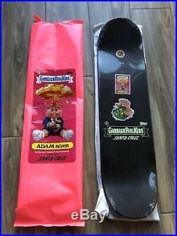 Santa Cruz Skateboard Garbage Pail Kids Adam Bomb Glow In The Dark GPK Gang