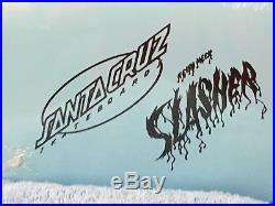 Santa Cruz Skateboard Keith Meek Slasher 30th Slash'n Years Blue NEW in Shrink