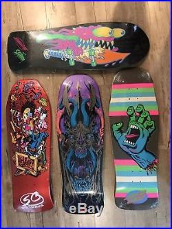 Santa Cruz Skateboard Lot Grosso Slasher- Hand- Winkowski Preissue Reissue