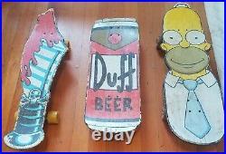 Santa Cruz Skateboard Lot of 3 Originals Homer Simpson, Duff Beer, Sword Slasher