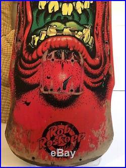 Santa Cruz Skateboard, Rob Roskopp, original 80s deck