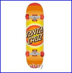 Santa Cruz Skateboards Complete Skateboard Gleam Dot Logo Orange 8.00 Inch