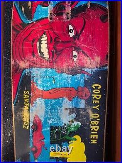 Santa Cruz Skateboards Corey O'brien Mutant City Skateboard Deck OG Vintage 1990