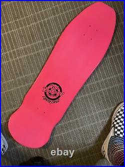 Santa Cruz Skateboards Roskopp Face Reissue Pink Full Dip Old School Style Deck