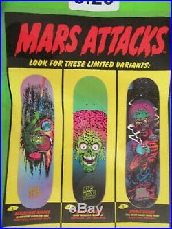 Santa Cruz Skateboards Skateboard Topps Mars Attacks Blind Bag Variant Deck