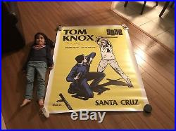 Santa Cruz Skateboards Tom Knox Cop Beater Banner Signed