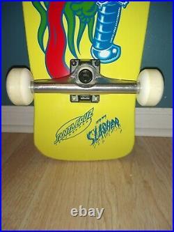 Santa Cruz Slasher Reissue Skateboard Deck Yellow Dip