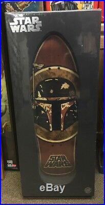 Santa Cruz Star wars Boba Inlayed SkateboardVHTF! Ltd Edition! NIB
