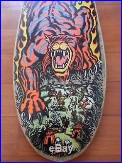Santa Cruz Steve Alba Salba Tiger Stripes OG NOS 80s Vintage Skateboard Deck