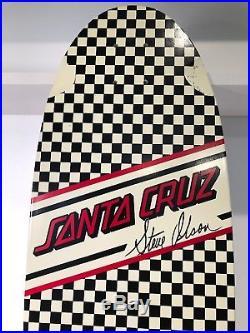 Santa Cruz Steve Olson Checkerboard 1980's Pig Skateboard Reissue Vintage Deck