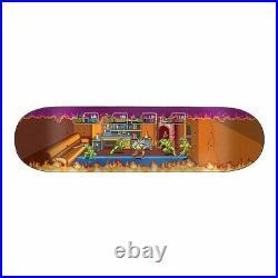 Santa Cruz TMNT ARCADE EVERSLICK Brown Shaped Skateboard Deck 8.5inch