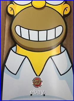 Santa Cruz The Simpsons Homer Head Cruiser Skateboard Deck 31.7 X 10.1 RARE