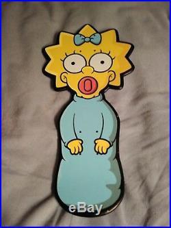 Santa Cruz The Simpsons Maggie Simpson Skateboard Deck Rare