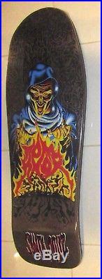 Santa Cruz Tom Knox Ghoul Firepit Skateboard Reissue Deck Black Stain
