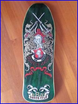 Santa Cruz Vintage OG NOS Soren Aaby Abbey Armor Soldier Sword Skateboard Deck