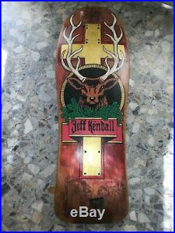 Santa Cruz skateboard Jeff Kendall jagermeister deck restored