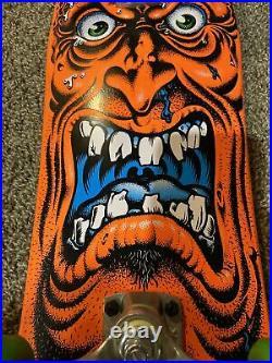 Santa Cruz skateboard Roskopp Face deck mini Cruiser Complete rare orange