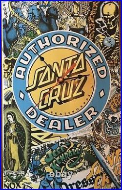 Santa Cruz skateboard clock. (Powell Peralta Bones Brigade Grosso Natas Hawk)
