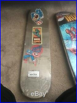 Santa cruz marvel captain america skate deck