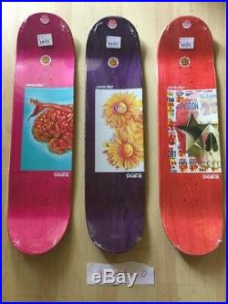 Santa cruz ron english lot set 3 skateboard deck popaganda 2017 supreme qual art