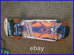 Santa cruz skateboard jeff grosso demon complete original 80s trucks and wheels