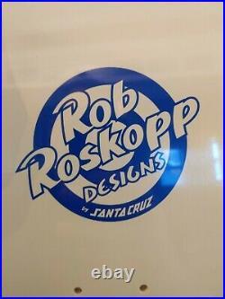 Sealed SANTA CRUZ ROB ROSKOPP Pink Yellow REISSUE DECK 9.5x31 Pastel Skateboard