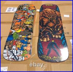 Set Of 16 Limited Edition Santa Cruz Star Wars Skateboard Decks Yoda, Boba Fett