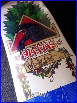 Signed Designarium Natas Kaupas NOS Skateboard Deck Powell Peralta Santa Cruz