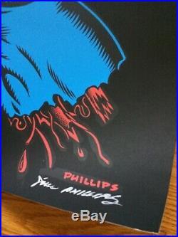 Signed Jim Phillips Screaming Hand Poster Santa Cruz Skateboards NHS
