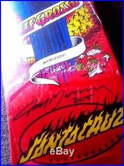 Signed Santa Cruz Jeff Grosso NOS Skateboard Deck Powell Peralta Natas