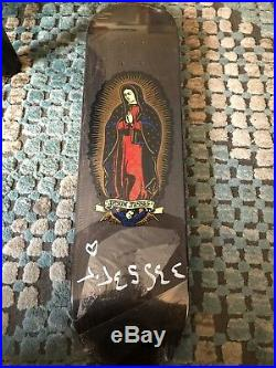 Signed Santa Cruz Jesse Guadalupe Black n Gold skateboard The Berrics