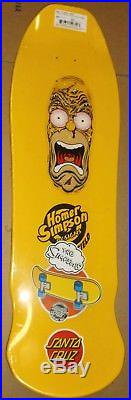 Simpsons X Santa Cruz Homer Face Skateboard Deck Roskopp Rare