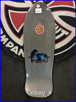 Sma Natas Kaupas Panther Metallic Grey Skateboard Deck Reissue Santa Cruz