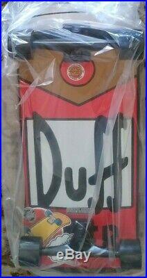 The Simpsons Santa Cruz Duff Beer Can Rare Cruiser Complete Skateboard NEW