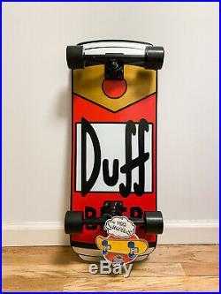 The Simpsons x Santa Cruz Duff Beer Can Rare Cruiser Complete Skateboard