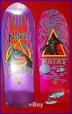 Two Santa Cruz SMA Skateboards Evil Cat & Kitten Natas Kaupas New In Shrink Wrap
