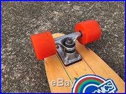 VINTAGE 70s SKATEBOARD SANTA CRUZ 5 PLY 31 TRACKER MID OJ SUPER JUICE