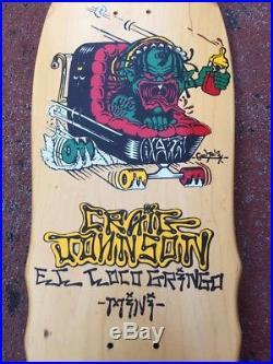 VINTAGE OG NOS Skateboard Alva El Loco Gringo Craig Johnson. Zorlac Santa Cruz