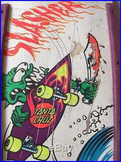 VINTAGE OG Skateboard Santa Cruz Slasher Meek Model