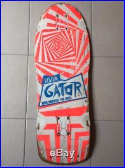 VINTAGE OG Skateboard deck Vision Gator. Zorlac Santa Cruz Powell Peralta