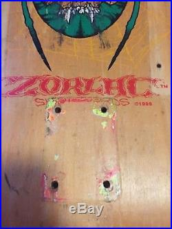 VINTAGE OG Skateboard deck Zorlac Metallica. Powell Peralta Alva Santa Cruz