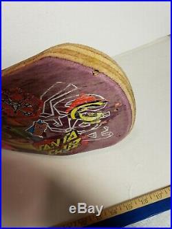 VTG Hosoi Picasso Santa Cruz Reissue Skateboard Deck- purple Stain #129