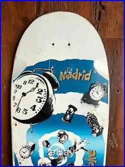 VTG MADRID CLAUS GRABKE Timewarp skateboard deck (Powell Santa Cruz)