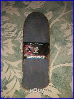 Vintage 1980's Santa Cruz Rob Roskopp Target 3 Design Skateboard