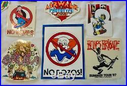 Vintage 1980's Skateboard 14 Stickers Santa Cruz Air Walk Vision Claus Grabke