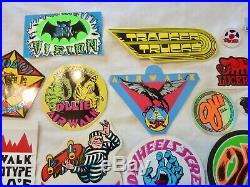 Vintage 1980's Skateboard 17 Stickers Santa Cruz Air Walk Vision